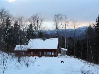 Fayston cabin rental - 10 Acres with views of Burnt Rock. Great for dogs!