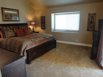 Beautiful large master suite with patio doors to lanai