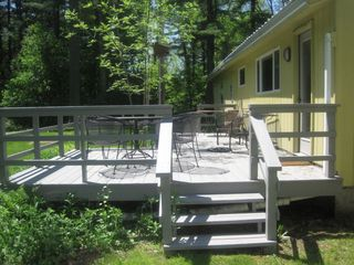 fabulous deck right off the kitchen - Great Barrington property vacation rental photo
