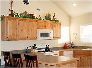 Enjoy all the amenities of home in our fully equipped kitchen