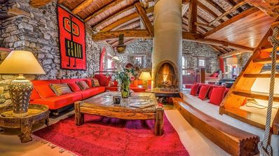 Traditional chalet at the foot of the slopes of Val d'Isère