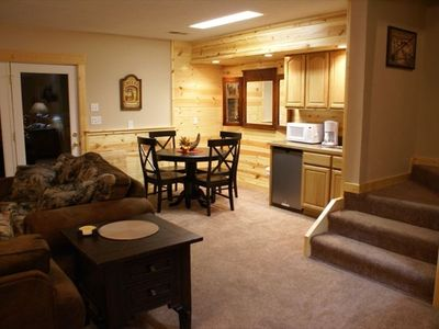 Wears Valley cabin rental - The kitchenette in the family room and it's dining/game table