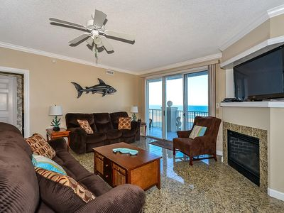 stylish, upscale luxury 3 bedroom oceanfront condo with free wiFi and a breathtaking ocean view located downtown on the boardwalk and just steps to the beach!