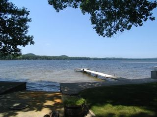 Dock on Bass Lake - Pentwater house vacation rental photo