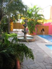 Sayulita house photo - ENTRY COURTYARD WITH LARGE FOUNTAIN