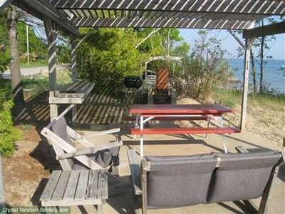 Beulah cottage rental - Patio on Beach