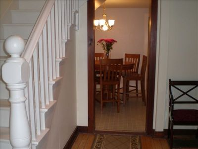 Hallway To Dining Room - Blue Rose Cottage Bar Harbor Vacation Rental