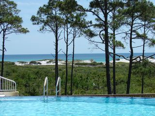 Santa Rosa Beach house photo - View from the infinity pool over looking the State Preserve and the Gulf