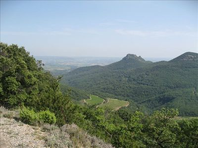 looking down on the Herault from Les Causses
