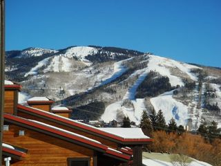 Steamboat Springs condo photo - View of Slopes from Deck and complex