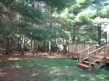 Lovely pine woods and privacy off the deck.