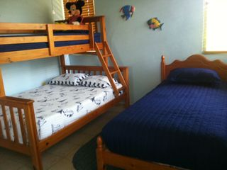 Manati house photo - Bedroom 1 with bunk bed and separate twin bed