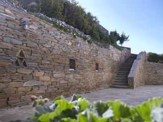Andros villa photo - Stone-built staircase entrance