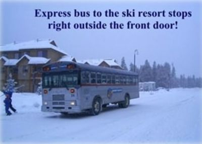Express buses to ski resort every few minutes!