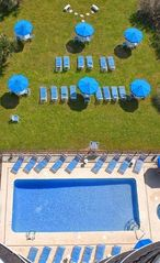 Meridian Plaza condo photo - Birds eye view of out door pool and lounging area