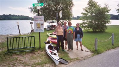 Rent a canoe and explore the Kalamazoo River! 3 blocks away.