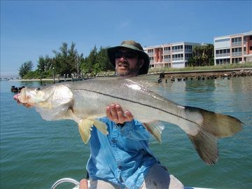 Big snook caught nearby