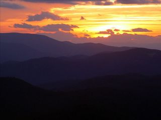 Wintergreen house photo - Another beautiful sunset in the mountains