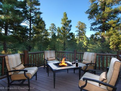 Extended deck w/ firepit