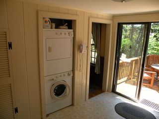 Chatham house photo - Kitchen - washer/dryer and entry to deck