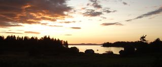 Vinalhaven farmhouse photo - Sunset