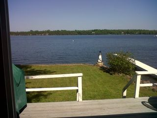 View from slider/eat-in kitchen area. - South Hero cottage vacation rental photo