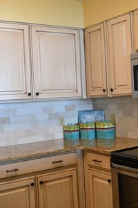 Stocked kitchen with every utensil you could possibly want! New backsplash!