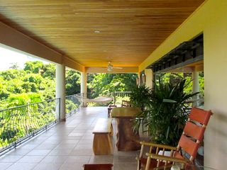 Nosara villa photo - Upstairs oceanview terrace accessed by master bedroom and guest bedrooms