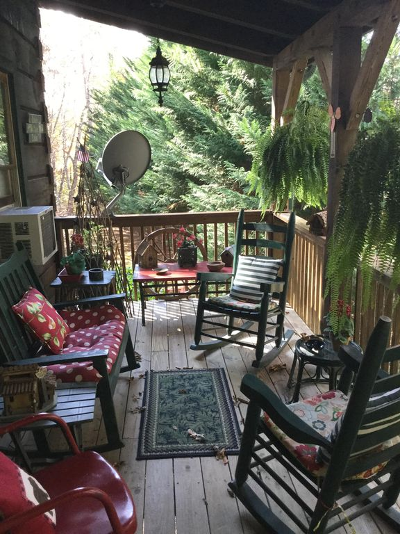 Come sit a spell on the front covered porch!