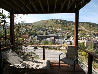 2nd Floor Private Master Bedroom Deck with Hug Views of Old Town and Ski Resorts
