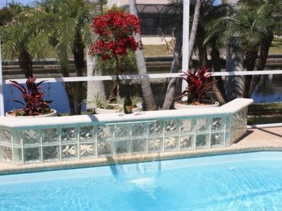 Cape Coral villa rental - Close up of pool waterfall