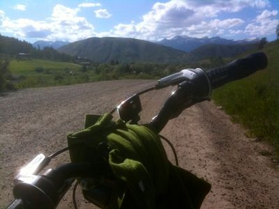5 minute ride towards adjacent Cache Creek Wilderness. Great mountain biking
