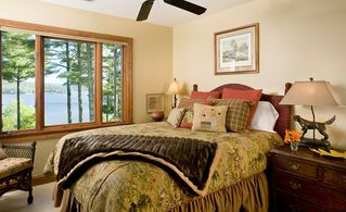Cashiers house photo - Queen Bedroom Overlooking the Lake