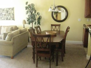 Belmont Towers Ocean City condo photo - Dinning table for 8 (extra 2 chairs in Master Bedroom)