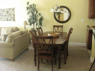 Dinning table for 8 (extra 2 chairs in Master Bedroom)