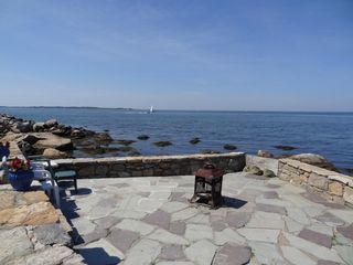 Groton house photo - Stone dock patio