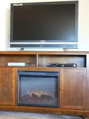 "Pahrump house photo - Electric Fireplace 46"" flat screen"