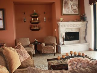 Mesa house photo - Great room with gas fireplace.