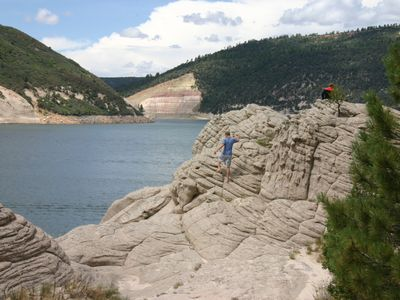 McPhee Reservoir (2nd largest in CO ) is a close place to boat, swim & fish.