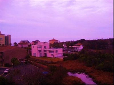 Sea Mark Tower condo rental - Purple skies at sunset! A beautiful ocean view.