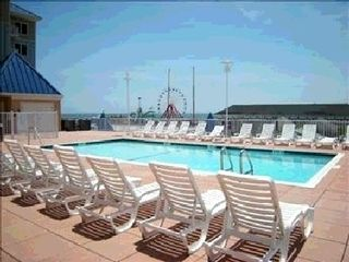 Belmont Towers Ocean City condo photo - Rootop Pool with Ferris Wheel in background