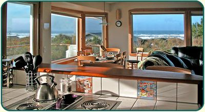 Take in the stunning ocean view as you brew the morning coffee in the Kitchen!