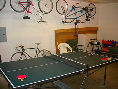 Ping Pong Table! - Ping Pong Table in the Garage!