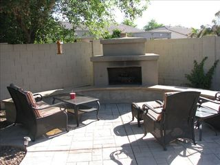 Chandler house photo - Outdoor Gas Fireplace - great for toasting marshmallows!