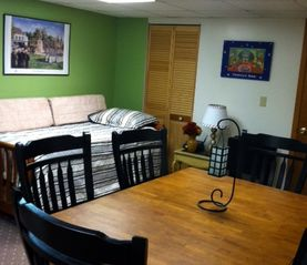 West Point lodge photo - Dual Purpose Room; Dining for 6;... Trundle Bed in Background