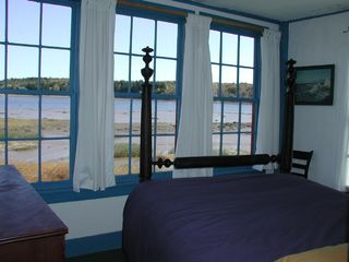 Machiasport cottage photo - The bedroom with spectacular view of the bay