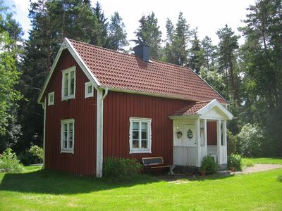 Typical Swedish house located beside a forest, not far to the bathing place