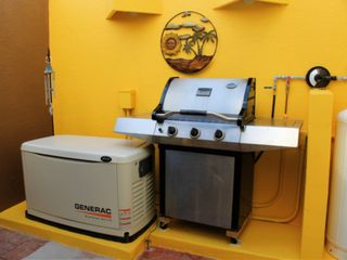 The Villa is equiped with a large grill and an automatic generator.