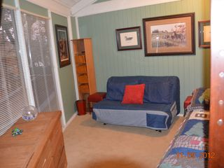 "Big Canoe chalet photo - Bedroom 2- twin bed over full, sofa bed, 32"" Flat Screen TV (sleeps up to 5)"