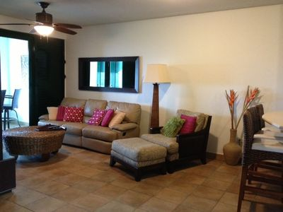 Rio Mar villa rental - Enjoy any time of the day in this reclinable sofa!